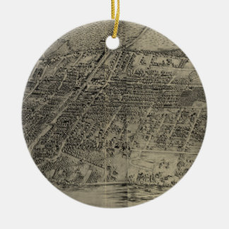 Vintage Pictorial Map of Arlington NJ (1907) Ceramic Ornament