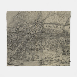 Vintage Pictorial Map of Arlington NJ (1907) Fleece Blanket