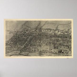 Vintage Pictorial Map of Arlington NJ (1907) Poster