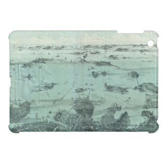 Vintage Pictorial Map of Boston Harbor 1897 iPad Mini Covers