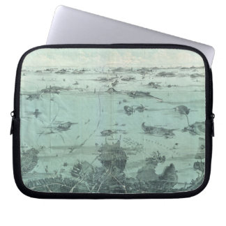 Vintage Pictorial Map of Boston Harbor 1897 Laptop Computer Sleeves