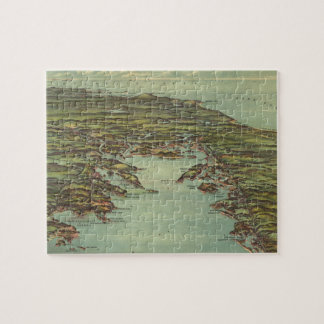 Vintage Pictorial Map of Buzzards Bay (1907) Jigsaw Puzzle
