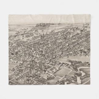 Vintage Pictorial Map of Dover Delaware (1885) Fleece Blanket