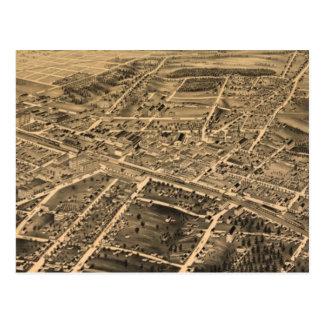 Vintage Pictorial Map of Durham NC (1891) Postcard