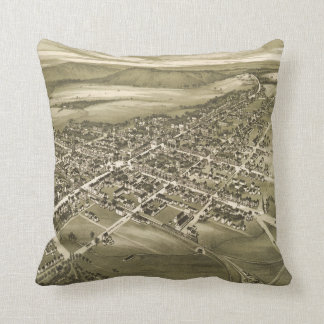 Vintage Pictorial Map of Gettysburg PA (1888) Cushion