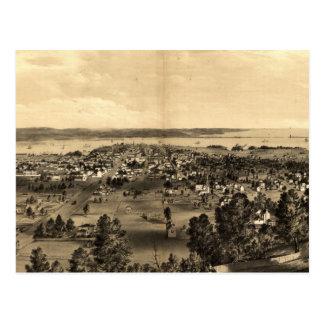 Vintage Pictorial Map of Hamilton Ontario (1859) Postcard
