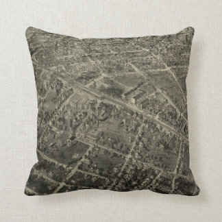 Vintage Pictorial Map of High Point NC (1913) Cushion