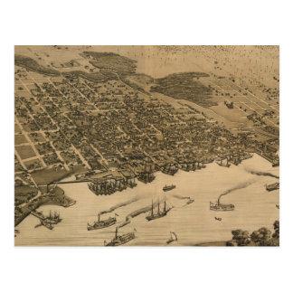 Vintage Pictorial Map of Jacksonville FL (1874) Postcard
