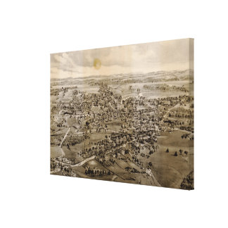 Vintage Pictorial Map of Kennebunk Maine (1895) Canvas Print