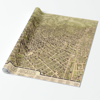 Vintage Pictorial Map of Los Angeles (1909) Wrapping Paper