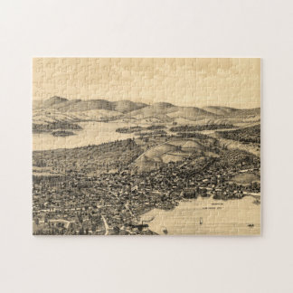 Vintage Pictorial Map of Meredith NH (1899) Jigsaw Puzzle