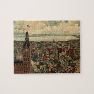 Vintage Pictorial Map of Milwaukee WI (1898) Jigsaw Puzzle
