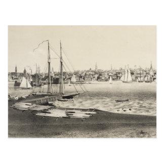 Vintage Pictorial Map of Newport RI (1860) Postcard
