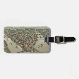 Vintage Pictorial Map of Pittsburgh (1902) Luggage Tag