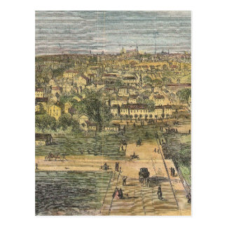 Vintage Pictorial Map of Richmond Virginia (1862) Postcard