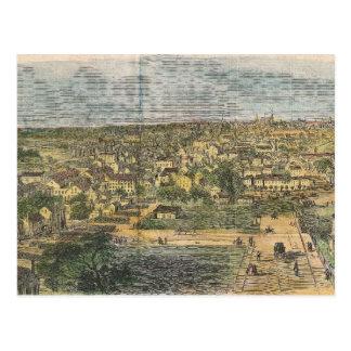 Vintage Pictorial Map of Richmond Virginia (1862) Postcard