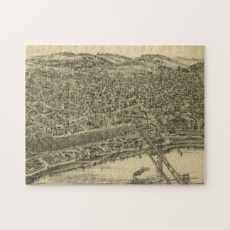 Vintage Pictorial Map of Rochester PA (1900) Jigsaw Puzzle