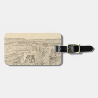 Vintage Pictorial Map of The Grand Canyon (1895) Bag Tag