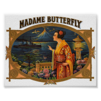 Vintage Picture - Madame Butterfly Poster
