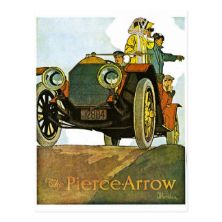 Vintage Pierce-Arrow Advertisement Postcard
