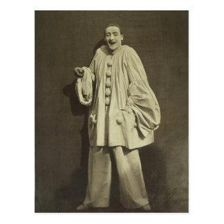 Vintage Pierrot Clown Postcard