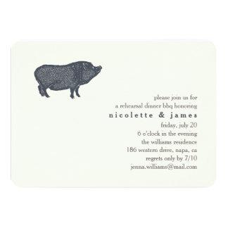 Vintage Pig | Rehearsal Dinner BBQ Invitation