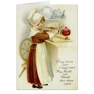 Vintage Pilgrim Baker Thanksgiving Greeting Card