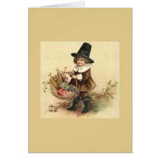 Vintage Pilgrim Thanksgiving Greeting Card