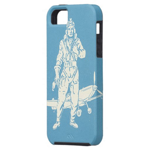 Vintage Pilot and Airplane Art iPhone 5 Case