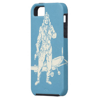 Vintage Pilot and Airplane Art iPhone 5 Cover