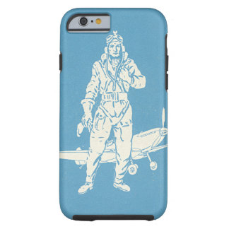Vintage Pilot and Airplane Art Tough iPhone 6 Case