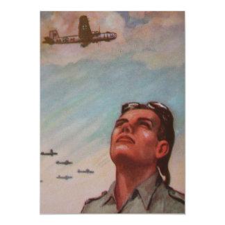 "Vintage Pilot Invitation 5"" X 7"" Invitation Card"