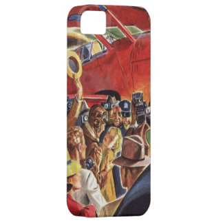 Vintage Pilot, Woman and Airplane with Paparazzi Barely There iPhone 5 Case