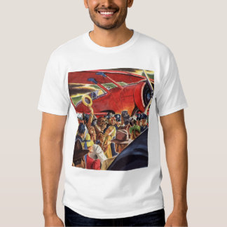 Vintage Pilot, Woman and Airplane with Paparazzi Shirts