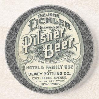 Vintage Pilsner Beer Ad Label Coasters