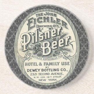 Vintage Pilsner Beer Ad Label Coasters