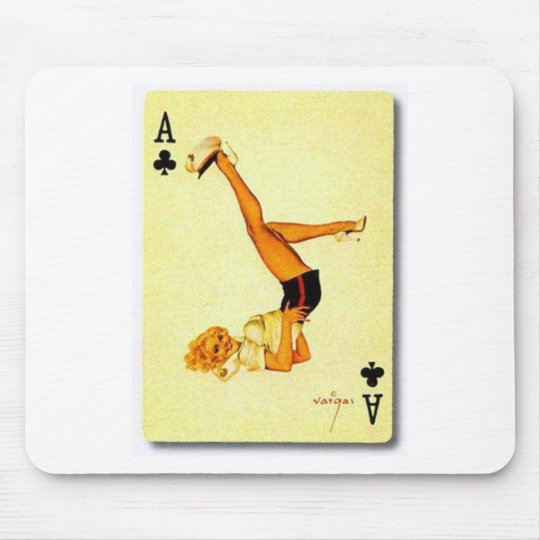 vintage pin up ace mouse pad