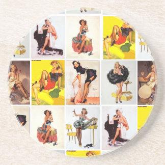 Vintage Pin-Up Girl Coaster