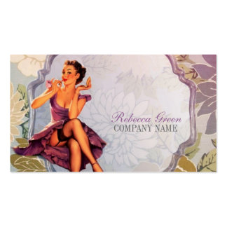 vintage pin up girl makeup artist pack of standard business cards
