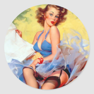 Vintage Pin Up Girl Stickers