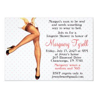 Vintage Pin Up Lingerie Shower Bridal Shower Card 13 Cm X 18 Cm Invitation Card