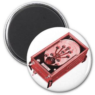Vintage Pinball Machine One-Shot 6 Cm Round Magnet