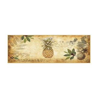 Vintage Pineapple Canvas Wall Art