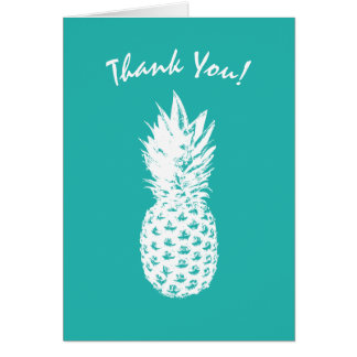 Vintage pineapple fruit custom  thank you cards