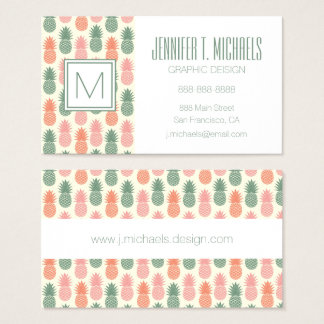 Vintage Pineapple Pattern 2 Business Card