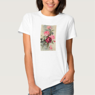 Vintage Pink and Red Roses Tees