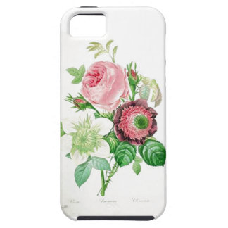 Vintage pink and white flowers iPhone 5 covers