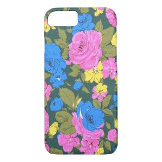 Vintage Pink Blue Floral pattern iPhone 7 case