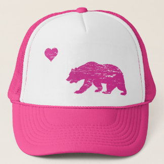 Vintage Pink California Love Trucker Hat