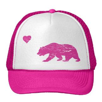 Vintage Pink California Love Trucker Hat